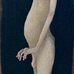 「姿-自画像-」 板・油彩 177X48 1989年