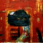 赤い闇 -Dark of Red-  Oil on Canvas 162.0×130.3 1999年