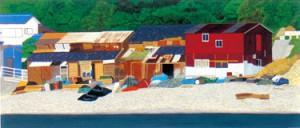 「浜辺の小屋」